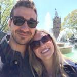 John & Lydia at fountain